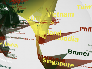 Interactive color methodologies::Distribution of world religions in 3d